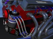 Racing Engine 3d model
