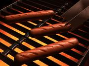 Hot Dog on the Grill 3d model