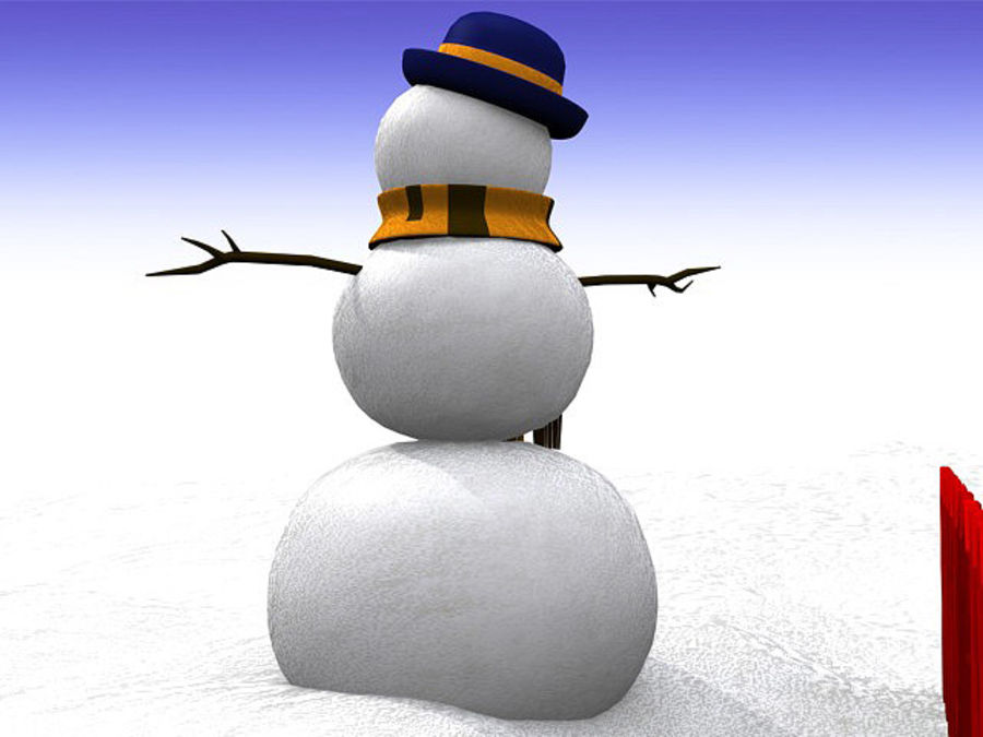 Snowman royalty-free 3d model - Preview no. 10