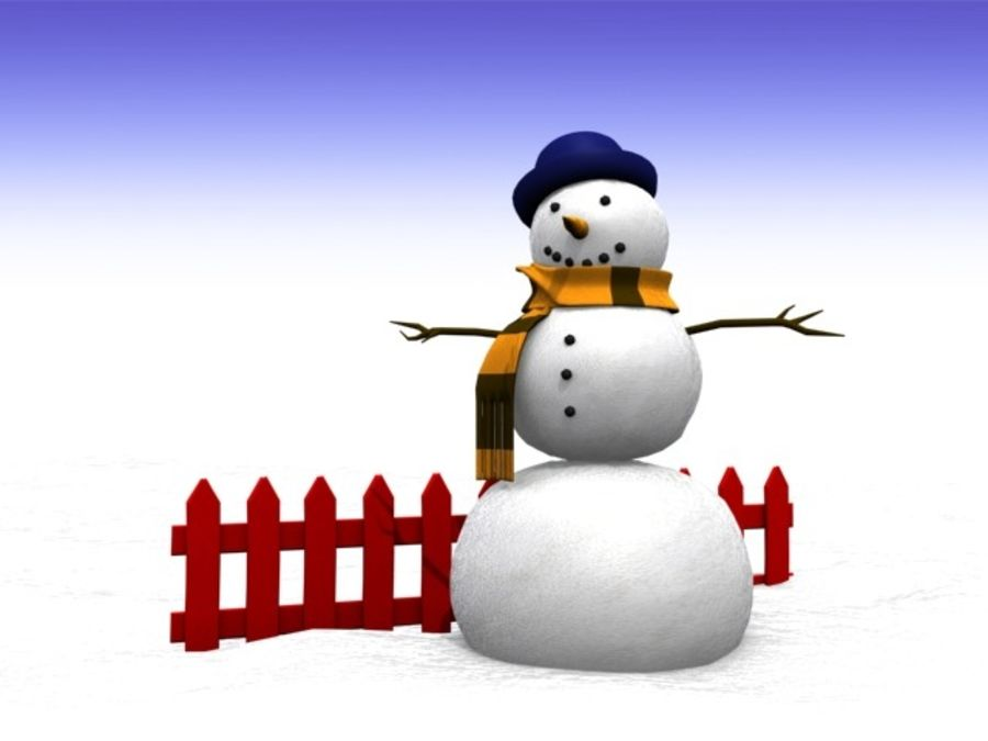 Snowman royalty-free 3d model - Preview no. 4