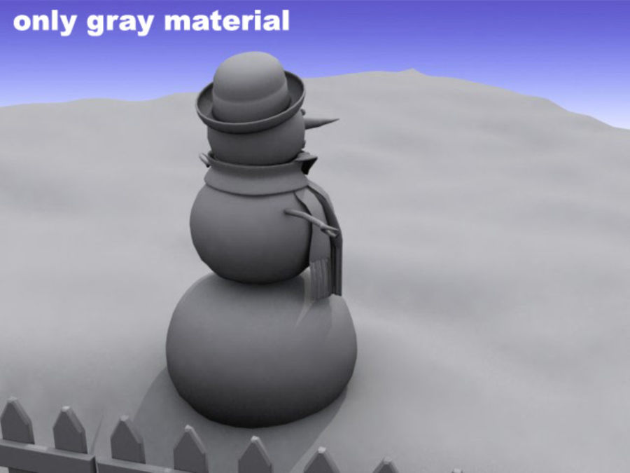 Snowman royalty-free 3d model - Preview no. 8