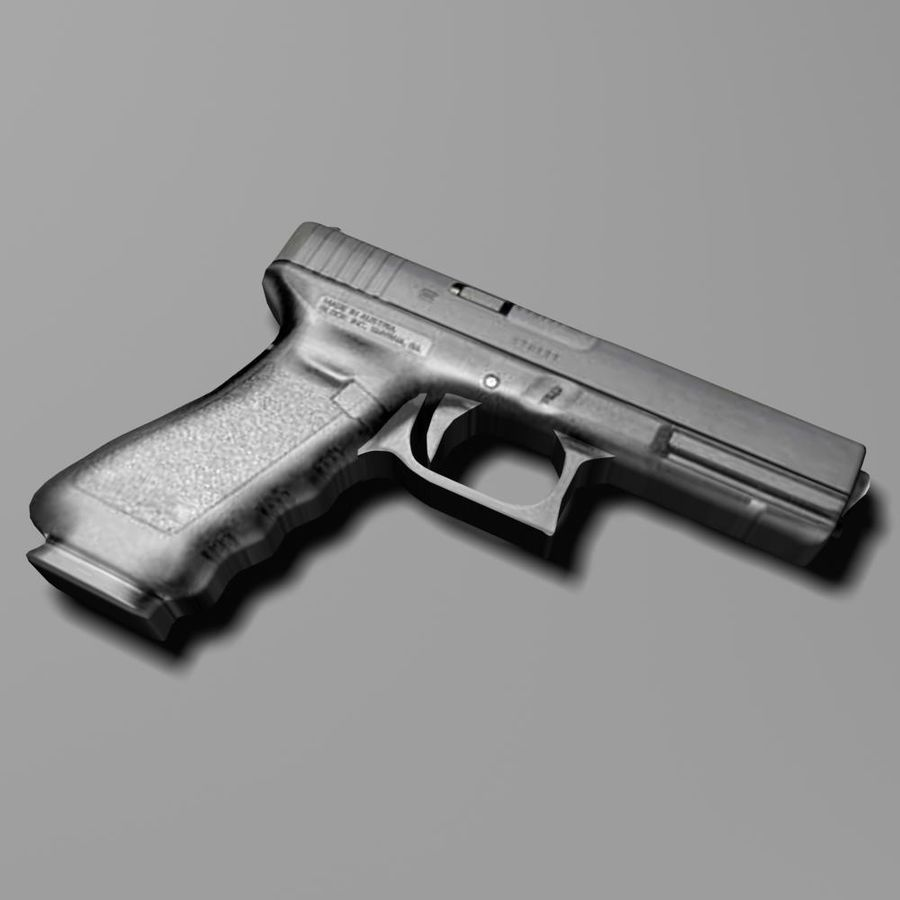 glock royalty-free 3d model - Preview no. 1
