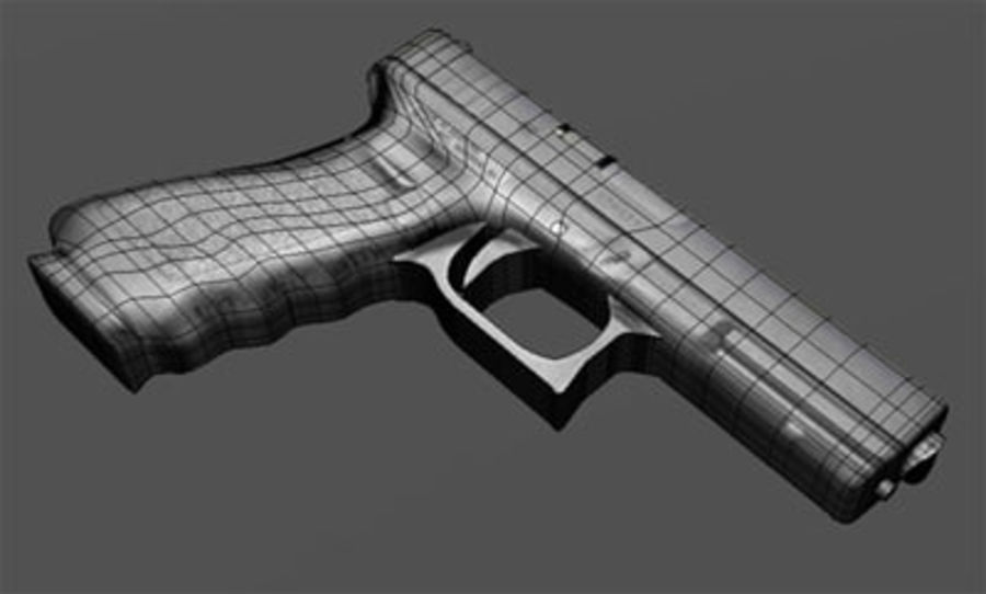 glock royalty-free 3d model - Preview no. 3