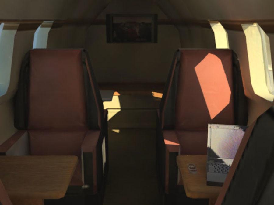 LeBombardier LearJet royalty-free 3d model - Preview no. 5