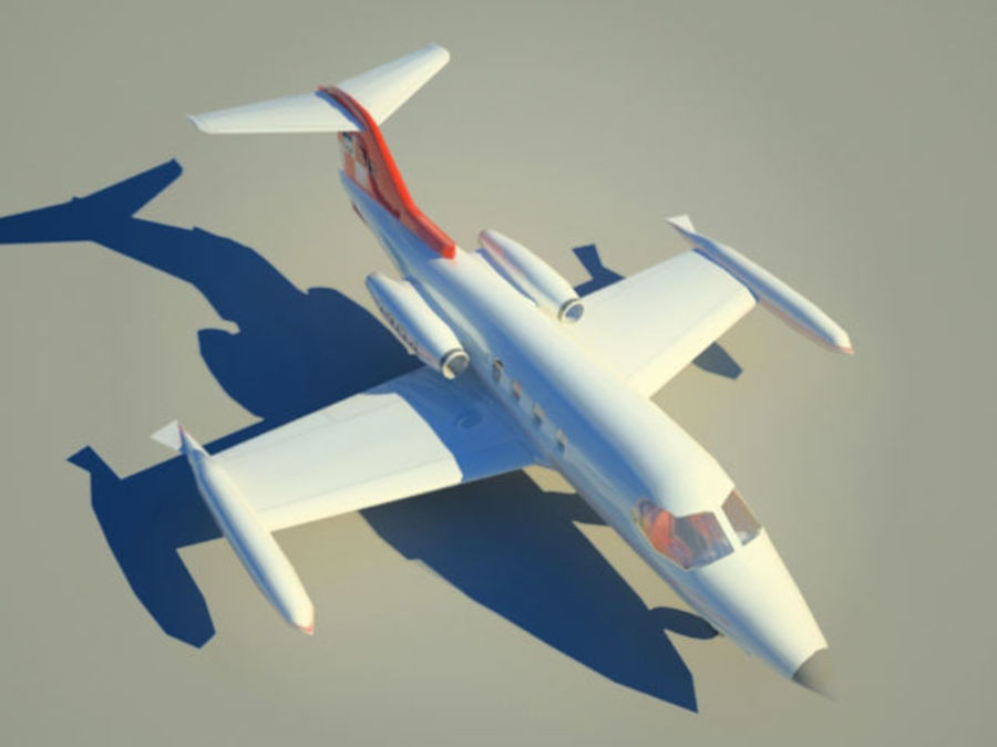 LeBombardier LearJet royalty-free 3d model - Preview no. 3