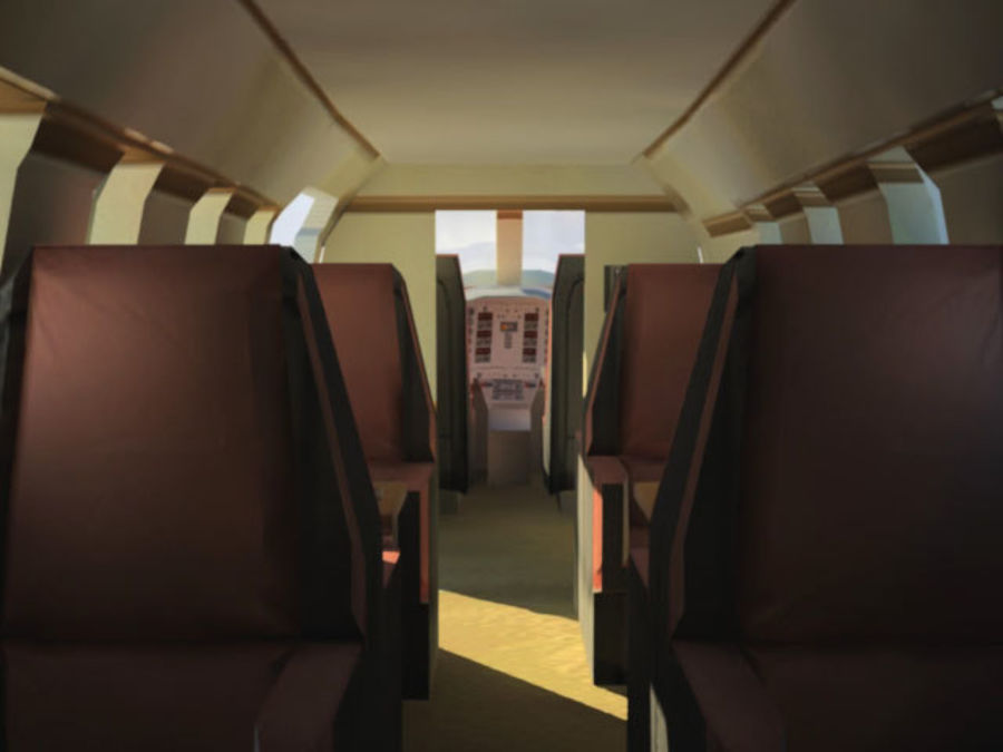 LeBombardier LearJet royalty-free 3d model - Preview no. 4