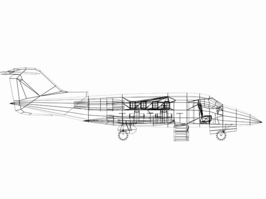 LeBombardier LearJet royalty-free 3d model - Preview no. 6