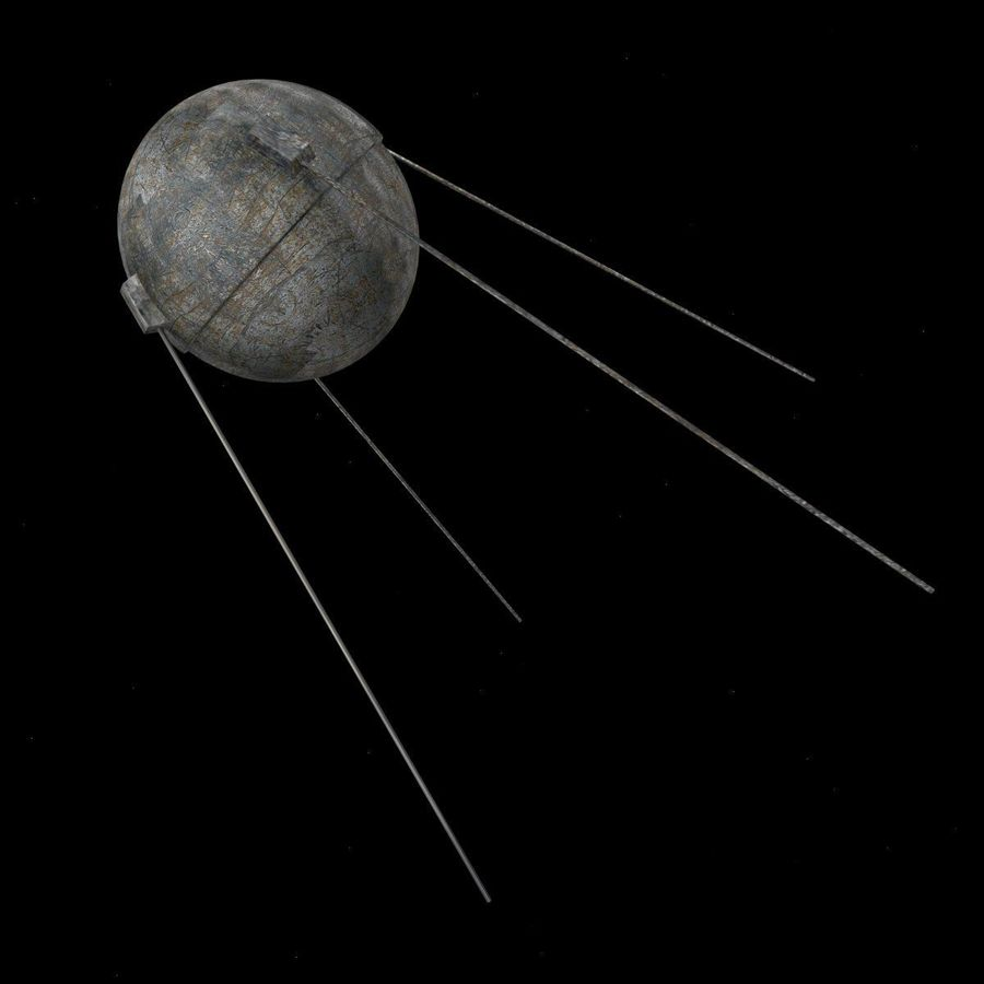 sputnik.3ds royalty-free 3d model - Preview no. 1