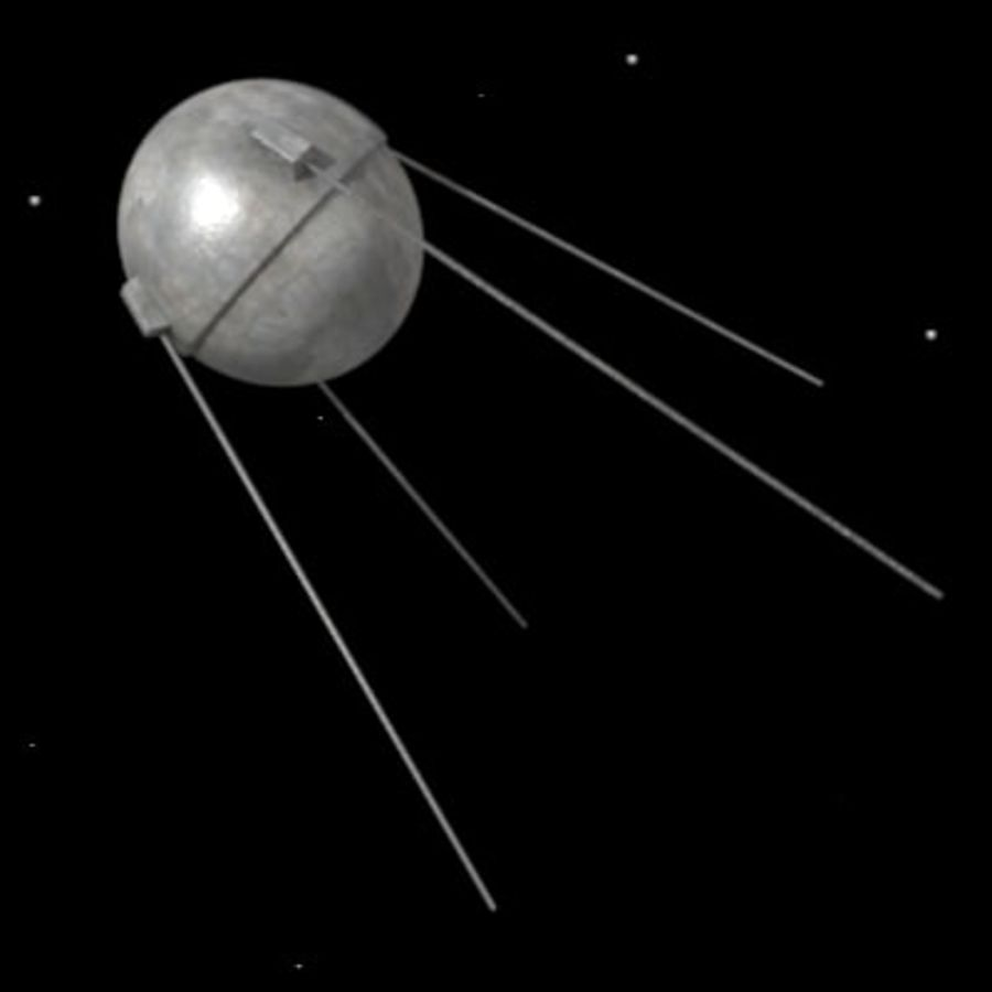 sputnik.3ds royalty-free 3d model - Preview no. 2