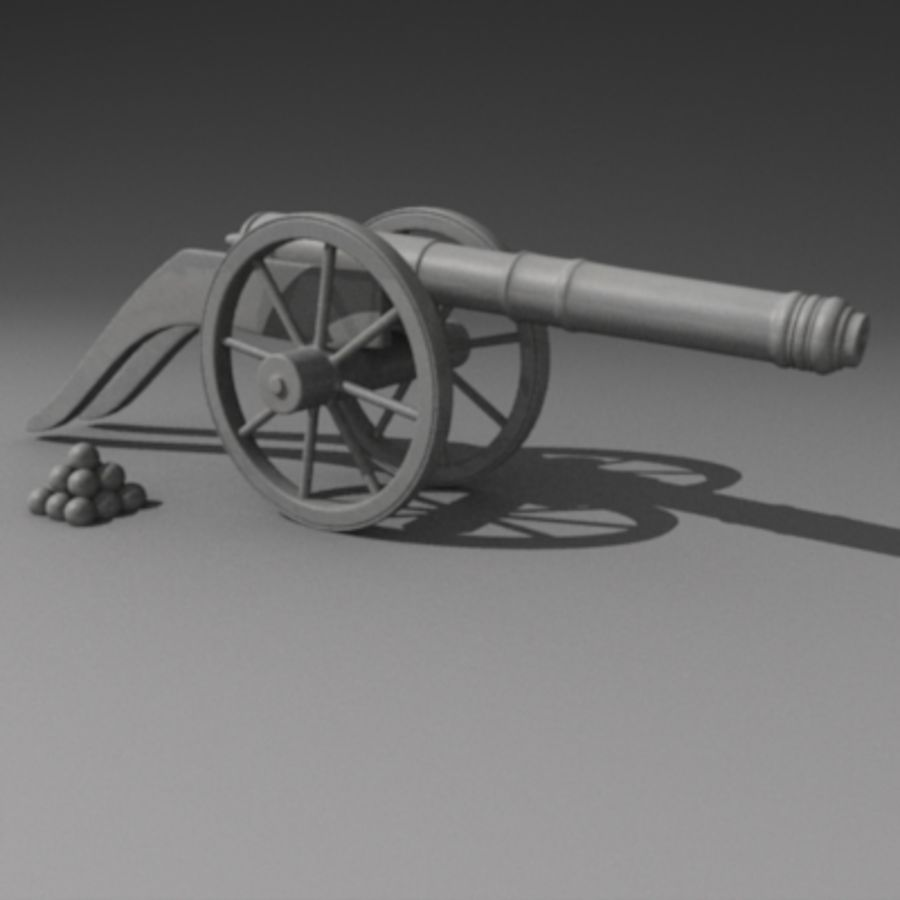 canon3.dxf royalty-free 3d model - Preview no. 2