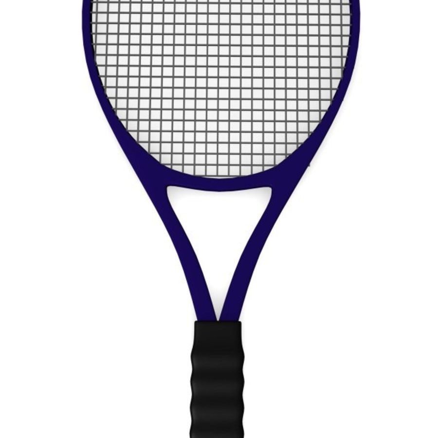 racket.3ds royalty-free 3d model - Preview no. 3