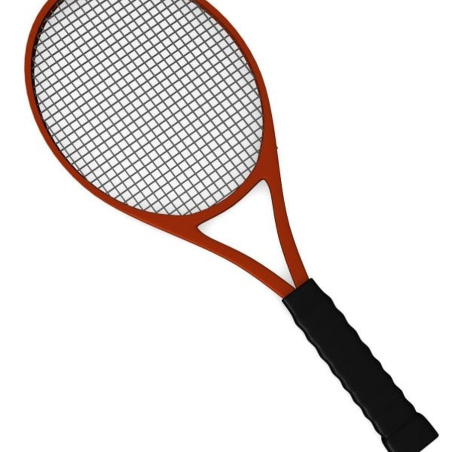 racket.3ds royalty-free 3d model - Preview no. 2