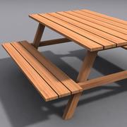 picnic table 02 model 3d model