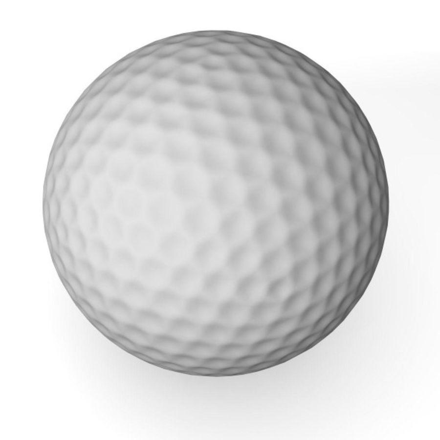 高尔夫球.3ds royalty-free 3d model - Preview no. 2