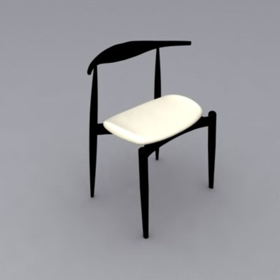 Wegner CH20 Elbow Chair Royalty Free 3d Model   Preview No. 4
