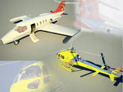 Eurocopter & LearJet pack 3d model