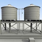 高清水箱无纹理 3d model