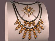 Crinis Necklace 3d model