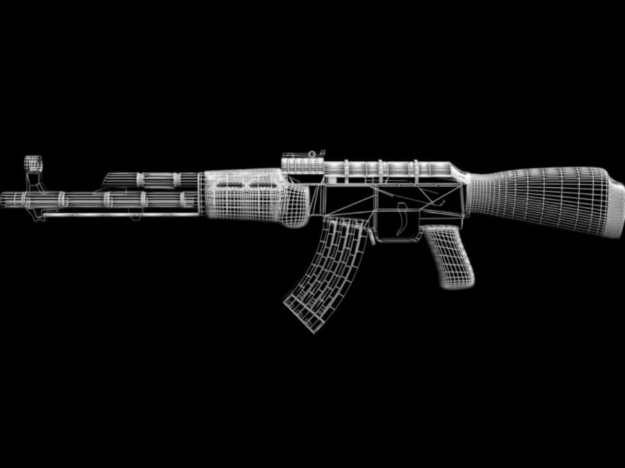 AK 47 royalty-free 3d model - Preview no. 5