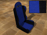 Race Car Seat - Blue 3d model