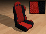Race Car Seat - Red 3d model