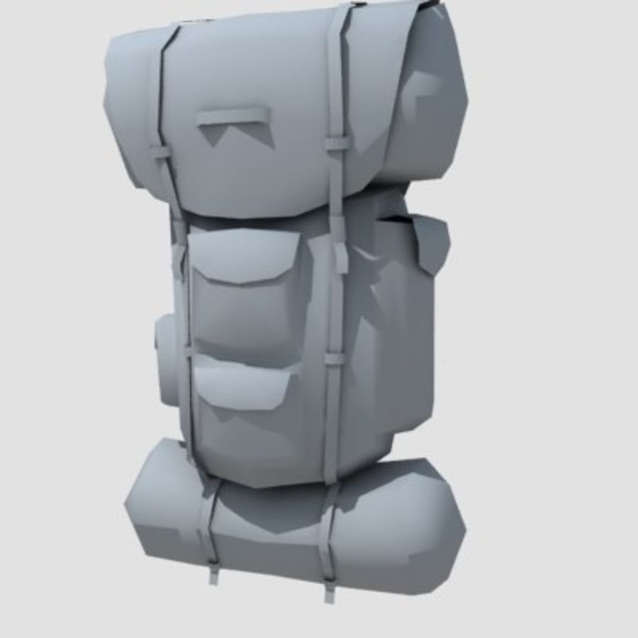 Military Backpack royalty-free 3d model - Preview no. 1