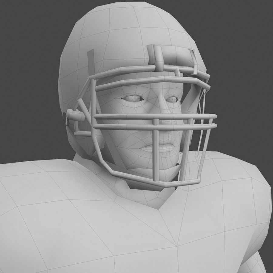 Football Player royalty-free 3d model - Preview no. 2