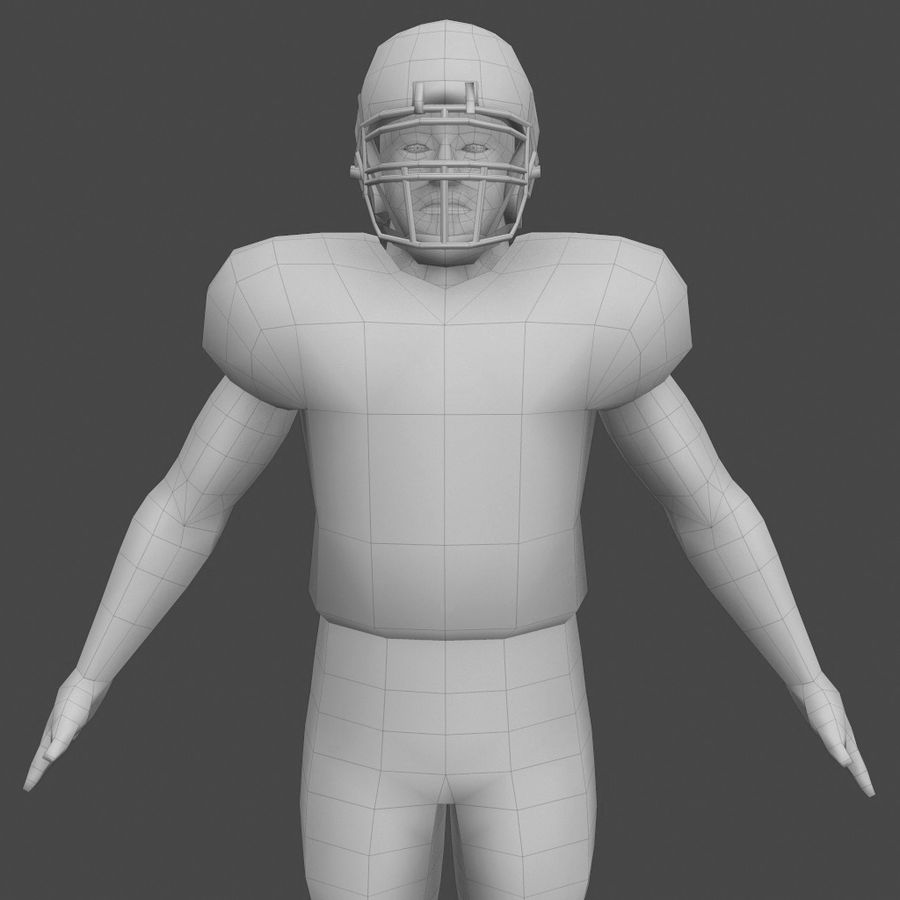 Football Player royalty-free 3d model - Preview no. 3