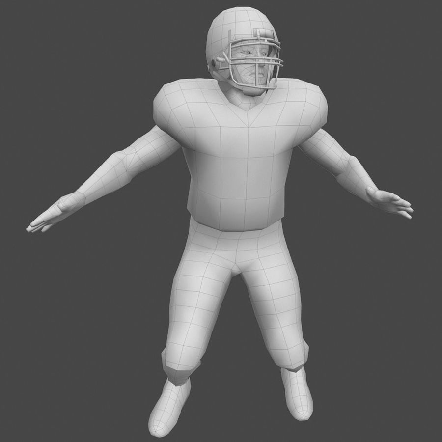 Football Player royalty-free 3d model - Preview no. 1