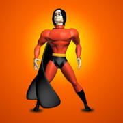 英雄角色 3d model