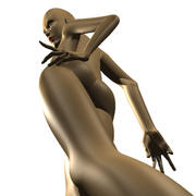 девушка 3d model