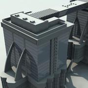 futuristisk byggnad SF2 3d model