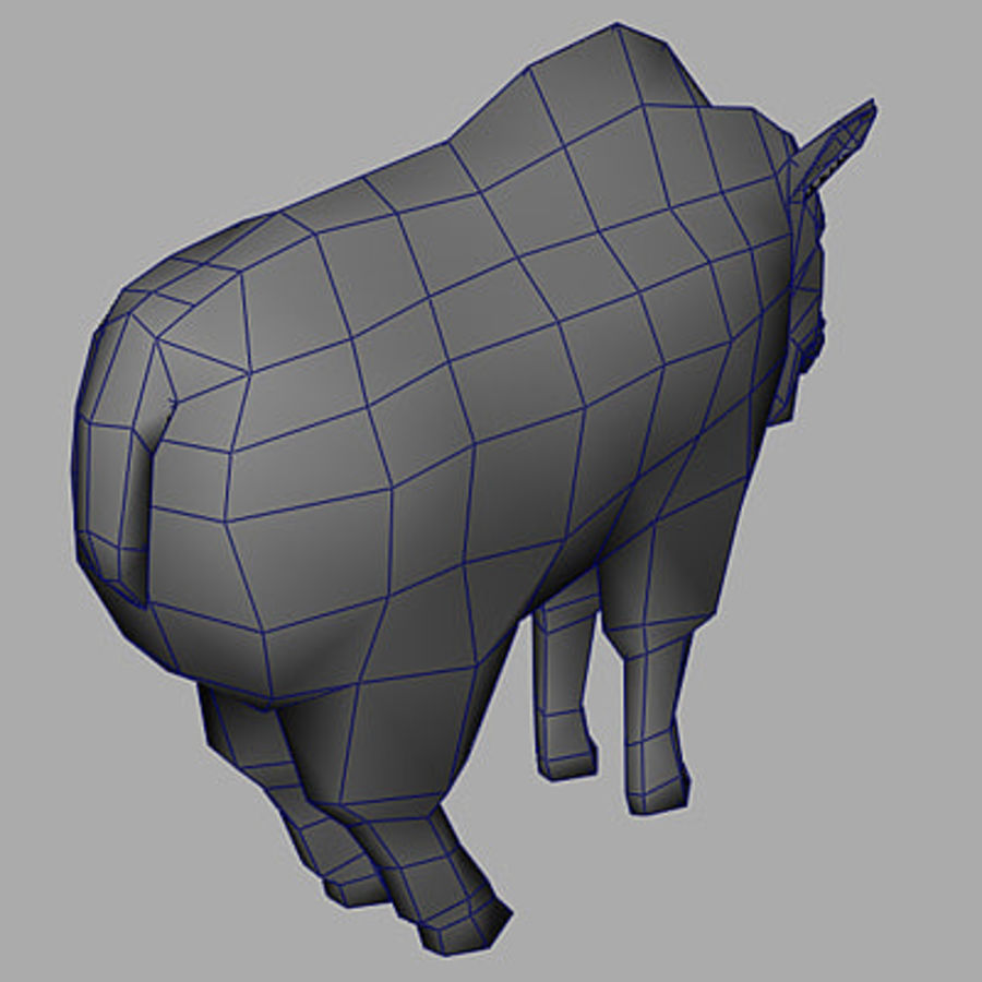 Mountain Goat royalty-free 3d model - Preview no. 9