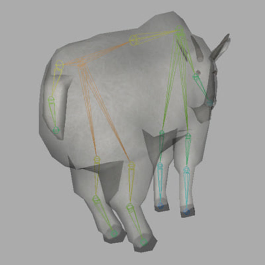 Mountain Goat royalty-free 3d model - Preview no. 8