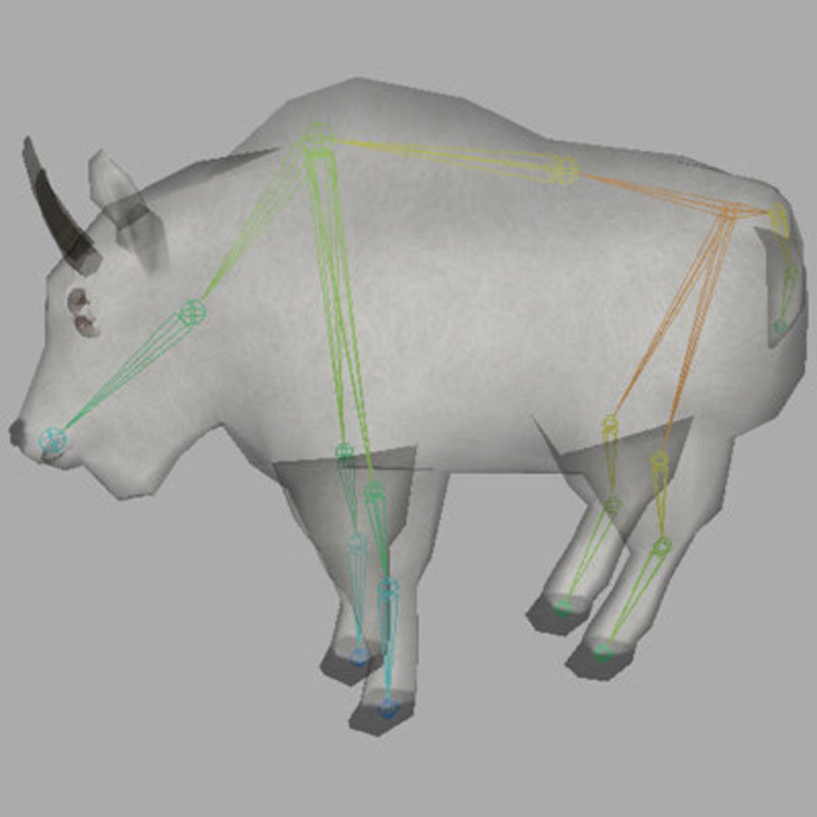 Mountain Goat royalty-free 3d model - Preview no. 7