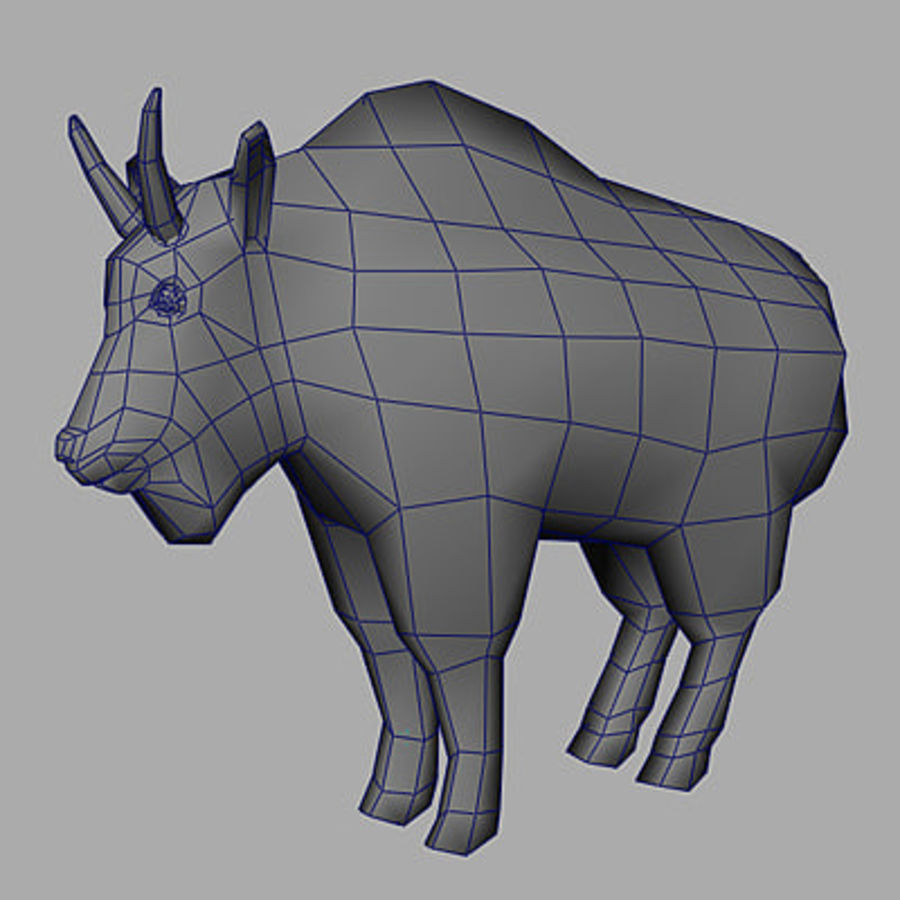 Mountain Goat royalty-free 3d model - Preview no. 10