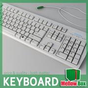 Midpoly keyboard 3d model