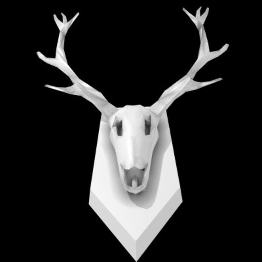 red deer royalty-free 3d model - Preview no. 7