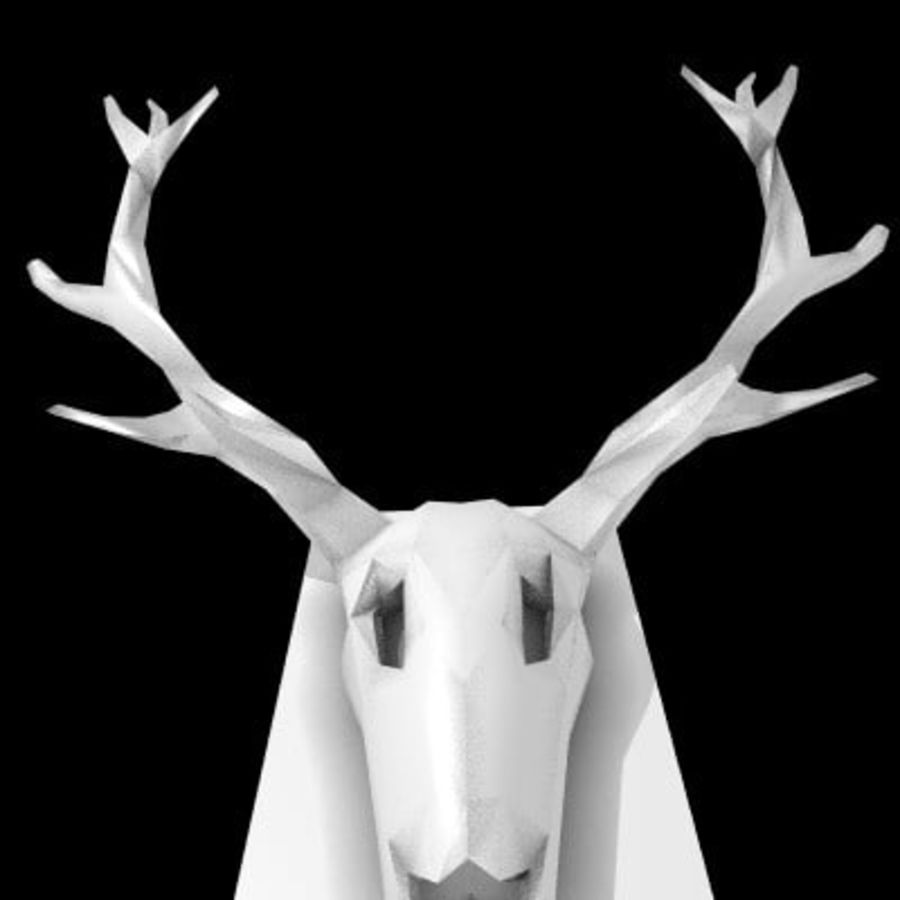 red deer royalty-free 3d model - Preview no. 6