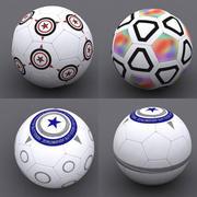 bola de futebol 3d model