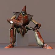 J robot rigged 3d model