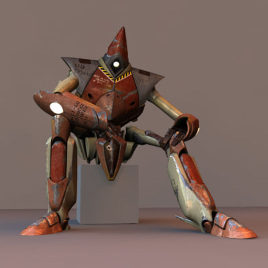 J robot rigged royalty-free 3d model - Preview no. 1