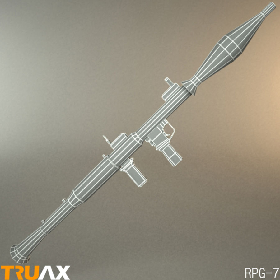 RPG sovietico-7 royalty-free 3d model - Preview no. 2