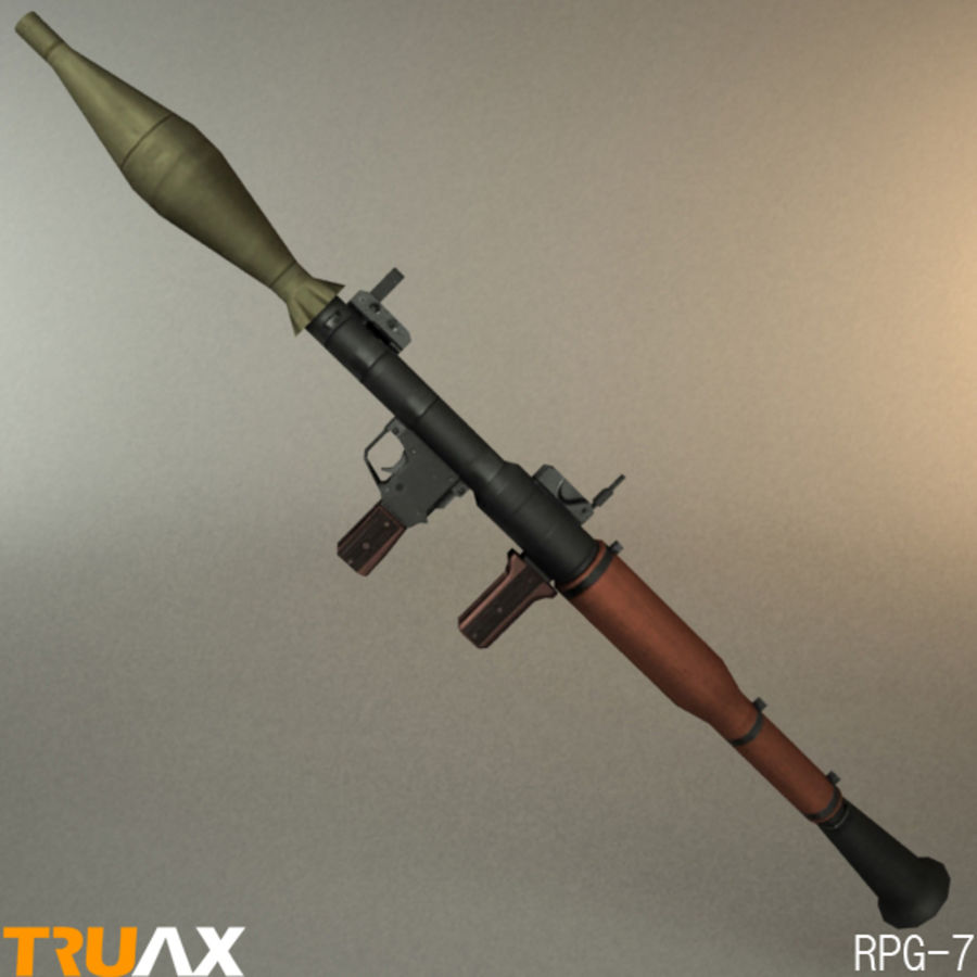 Soviet RPG-7 royalty-free 3d model - Preview no. 3