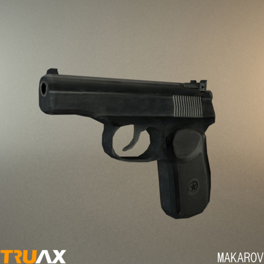 Makarov PMM royalty-free 3d model - Preview no. 3