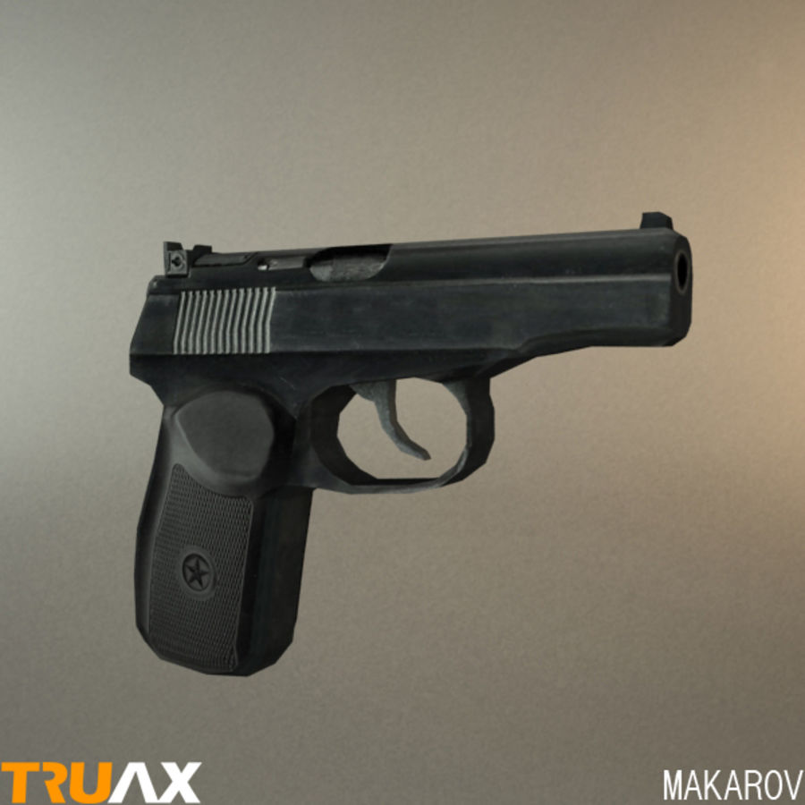 Makarov PMM royalty-free 3d model - Preview no. 1