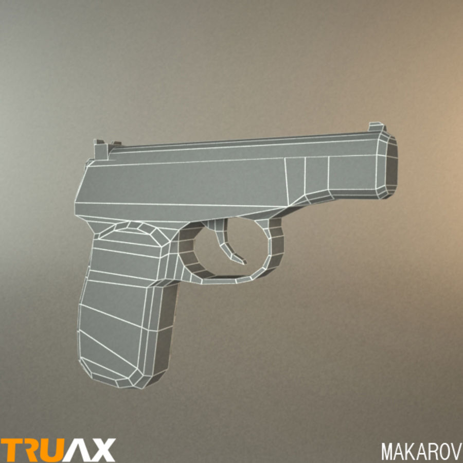 Makarov PMM royalty-free 3d model - Preview no. 2
