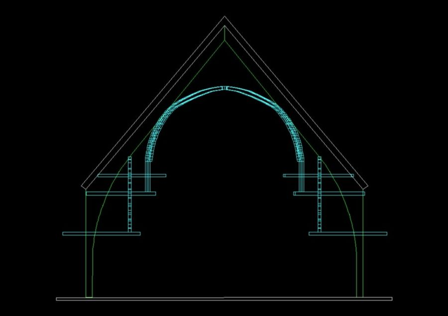 Neo Gothic Arches Royalty Free 3d Model