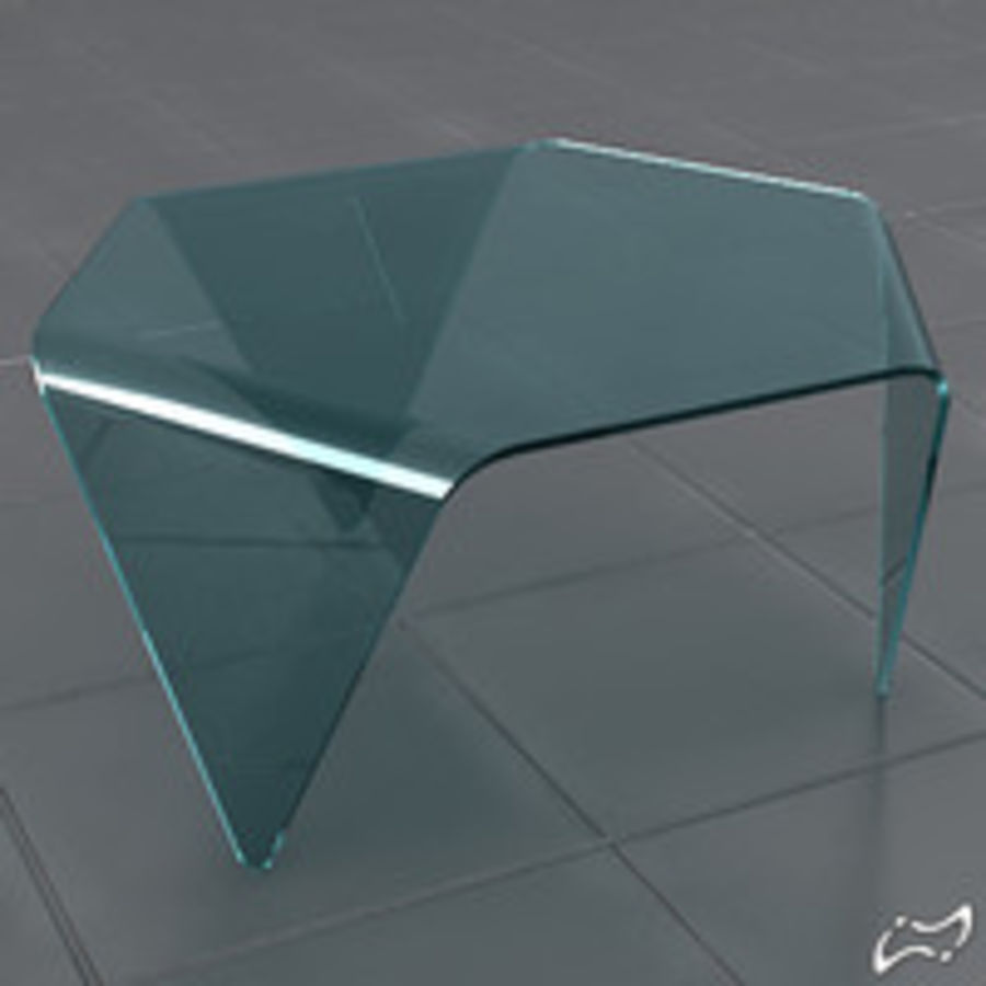 Exagonal table royalty-free 3d model - Preview no. 2