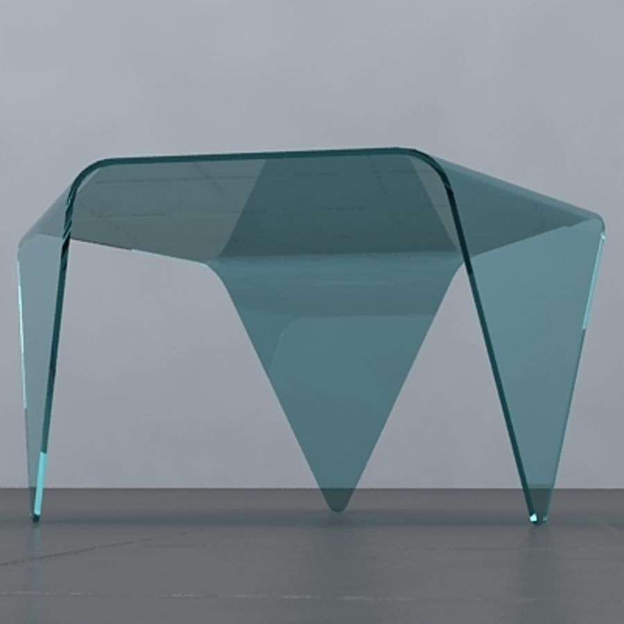 Exagonal table royalty-free 3d model - Preview no. 4